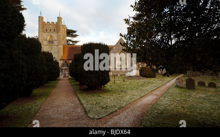 Hambleden Village Church Buckinghamshire England UK - Stock Photo