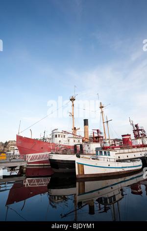 Boats Docked at Heritage Wharf, Lake Union Park, South Lake Union, Seattle, Washington