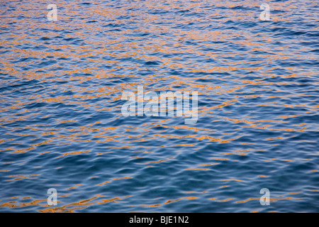 Cassis, Provence, France. Golden reflections in the Mediterranean at sunset. - Stock Photo