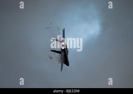 Israeli Air force F-15I Fighter jet in flight - Stock Photo