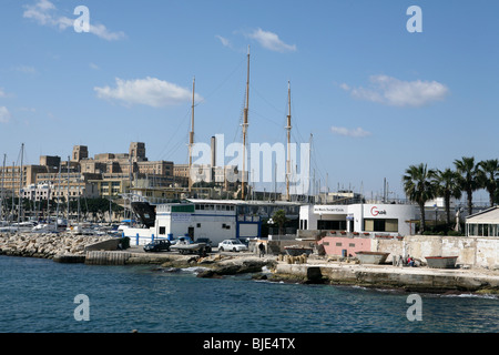 Views in and around the Grand harbour Valletta, Malta. The George cross island in the Mediterranean - Stock Photo