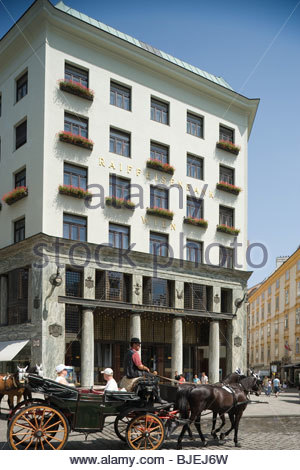 Loos House at the Michaelerplatz, Vienna, Austria - Stock Photo