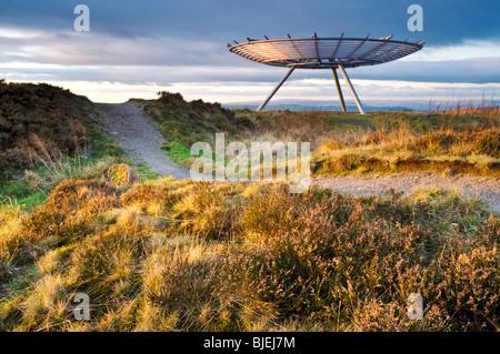The Halo Panopticon, Top o' Slate, Near Rossendale, Lancashire, England, UK - Stock Photo