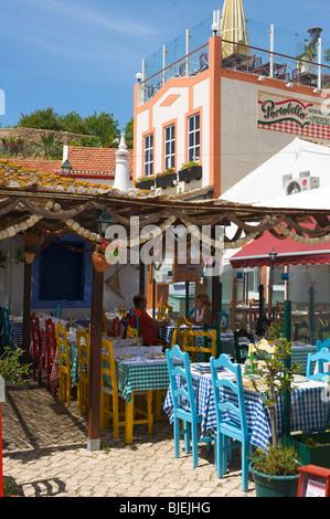 Cafe, Alvor, Algarve, Portugal - Stock Photo