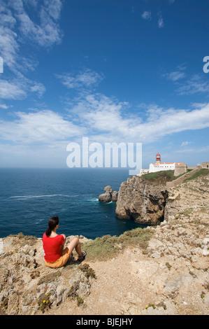 Lighthouse, Cabo de Sao Vicente, Algarve, Portugal