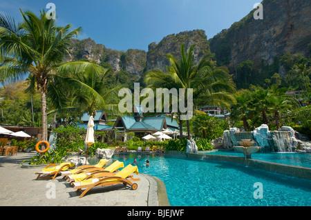 Pool, Centara Resort, Krabi, Thailand - Stock Photo