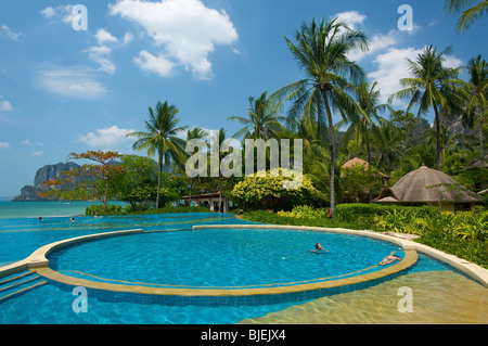 Pool, Rayavadee Resort, Krabi, Thailand - Stock Photo