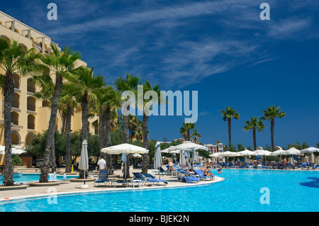 Hilton Hotel, St. Julians, Malta - Stock Photo