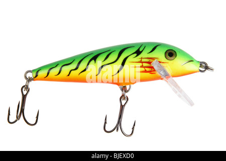 Fishing bait wobbler isolated on white with clipping path - Stock Photo