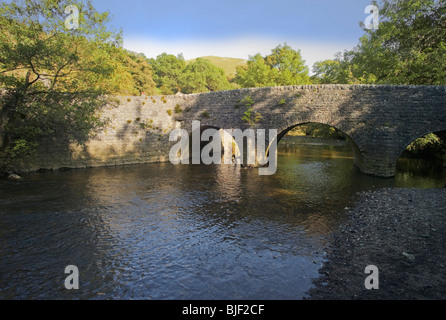 the river manifold at wettons mill in the peak district national park derbyshire - Stock Photo