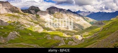 The Bonette Pass - Route de la Bonette, in the Alpes Maritimes, Parc National du Mercantour, French Alps, France, - Stock Photo