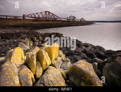 Forth Rail Bridge, North Queensferry, Inverkeithing, Fife, Scotland - Stock Photo