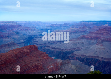 The Grand Canyon and Colorado river at dawn - Stock Photo