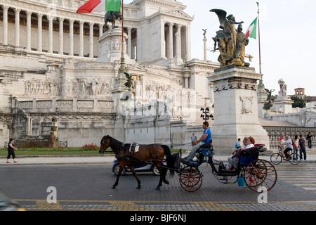 Italy, Rome, Vittorio Emanuele II Monument at Piazza Venezia. - Stock Photo