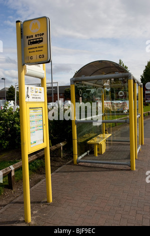 Liverpool Bus service Bus Stop Mersyside - Stock Photo