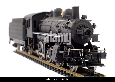 Scale Model Of An Old Steam Train - Stock Photo