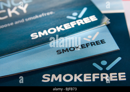 NHS Smoke Free Campaign booklets - Stock Photo