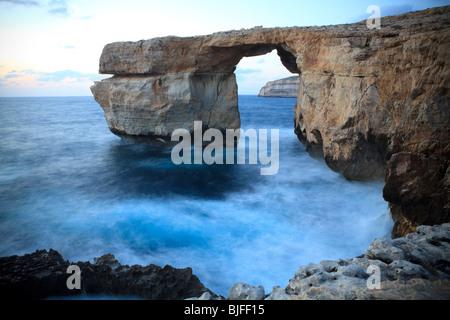 Azure Window, Dwejra, San Lawrenz, Gozo, Malta - Stock Photo