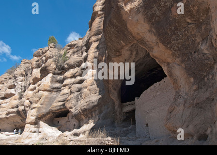 New Mexico, Gila Cliff Dwellings National Monument - Stock Photo