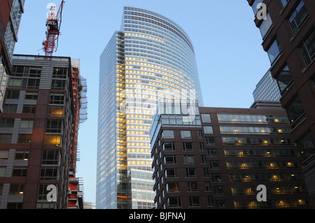 Goldman Sachs headquarters in Battery Park City is surrounded by apartment buildings, with more under construction. - Stock Photo