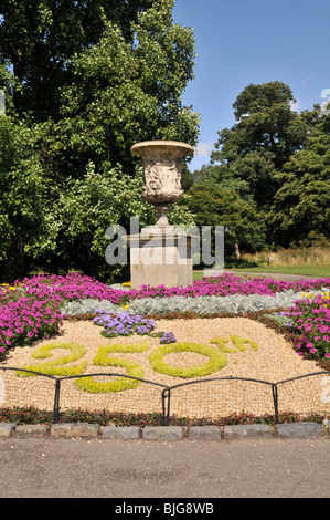 Decoration celebrating 250th anniversary of Kew Gardens, London, UK - Stock Photo