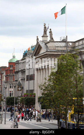 General Post Office in O'Connell Street, Dublin, Ireland - Stock Photo