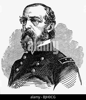 Meade, George G., 31.12.1815 - 6.11.1872, American General, Commanding Officer Army of the Potomac , - Stock Photo