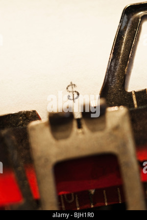 Typing a dollar sign - Stock Photo