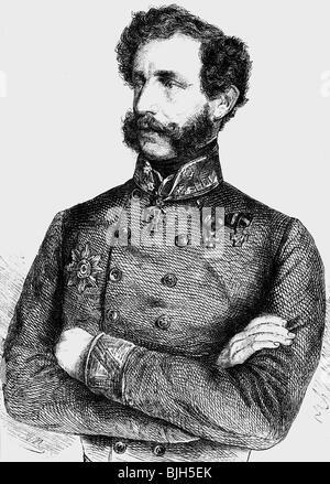 Clam-Gallas, Eduard count, 15.3.1805 - 17.3.1891, Austrian general, half length, wood engraving, 'Die Glocke', 1860, - Stock Photo