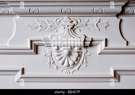 Detail of Victorian cast-iron fireplace - Stock Photo