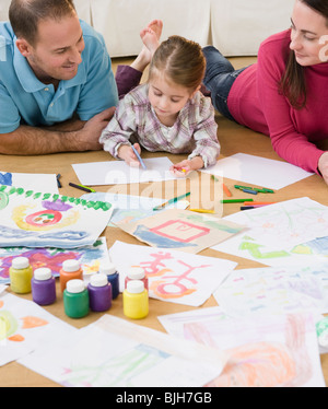 Painting pictures - Stock Photo