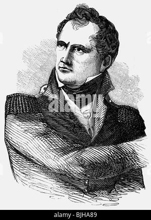 Scott, Winfield, 13.6.1786 - 29. 5.1866, American general, portrait, as a young man, wood engraving, 19th century, - Stock Photo