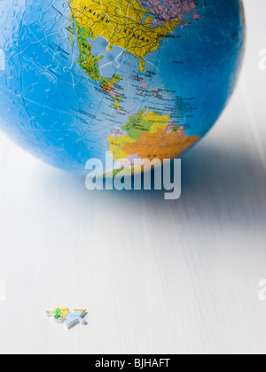 planet earth puzzle - Stock Photo