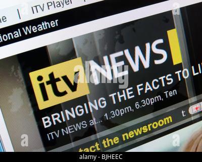 ITV News web page screen shot. - Stock Photo