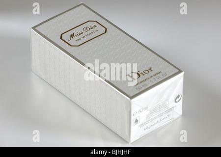 Boxed 50ml bottle of Miss Dior Eau de toilette vapour spray perfume - Stock Photo