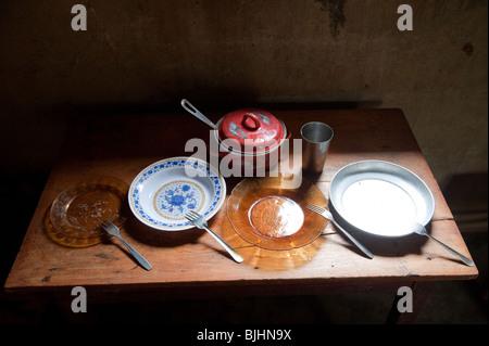 Possessions inside a poor Muslim family home. Rwanda. - Stock Photo