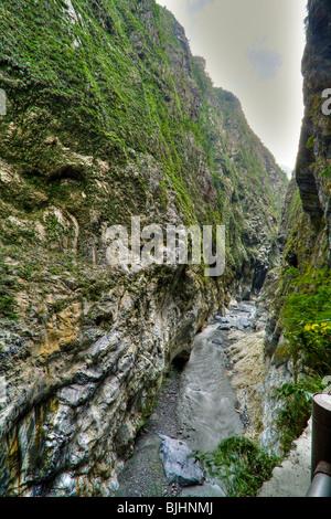 Taroko Gorge, Hua Lian County, Central Taiwan - Stock Photo