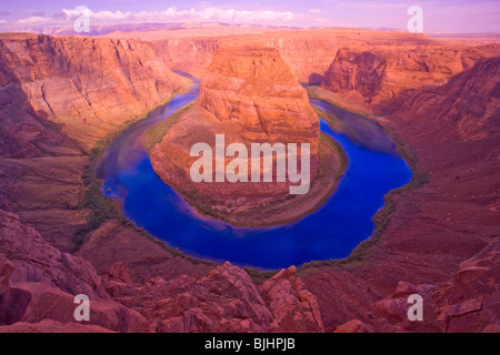 Horseshoe Bend of the Colorado River, Glen Canyon National Recreation Area, Arizona, between Grand Canyon and Lake - Stock Photo