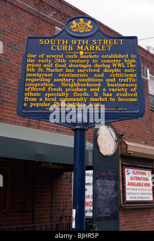 South 9th Street Curb MarketOne of several curb markets established in the early 20th century - Stock Photo