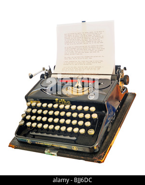 An old German, pre-war typewriter isolated on a white background - Stock Photo