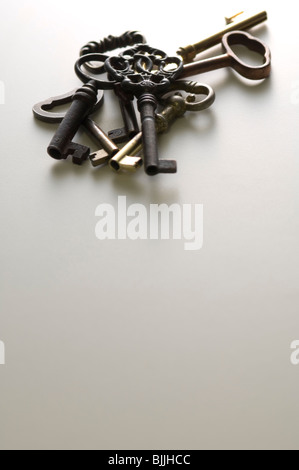 Group of antique keys - Stock Photo