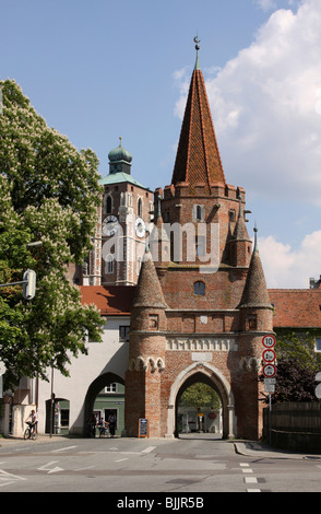 Kreuztor Gate, Ingolstadt, Bavaria, Germany, Europe - Stock Photo