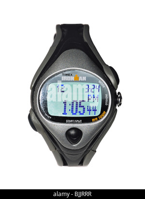 Man's Sport's Wristwatch with time controls - Stock Photo