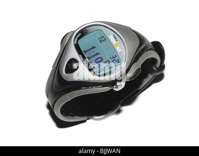Man's Sport Wristwatch with time controls - Stock Photo