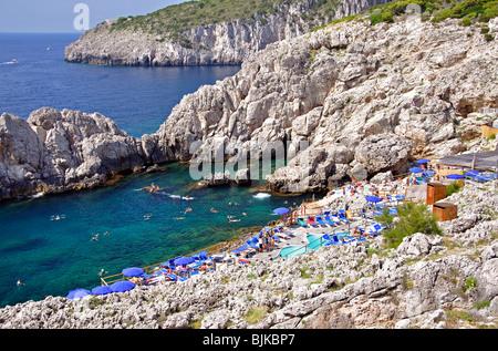 Punta Carena Capri Italy - Stock Photo