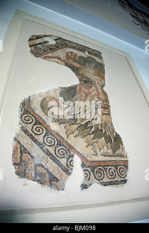 Roman Mosaics in the Bardo Museum in the capital city of Tunis, Tunisia, North Africa - Stock Photo