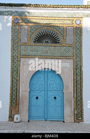 Doorway outside the Bardo Museum in the capital city of Tunis, Tunisia, North Africa - Stock Photo