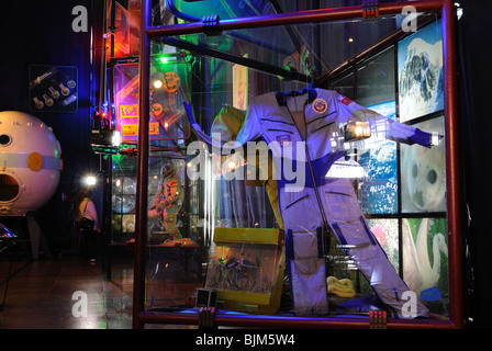 Astronaut's suit. The Sergiy Korolyov Astronautics Museum in Zhytomyr. - Stock Photo