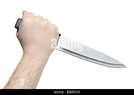Hand holding a knife - Stock Photo