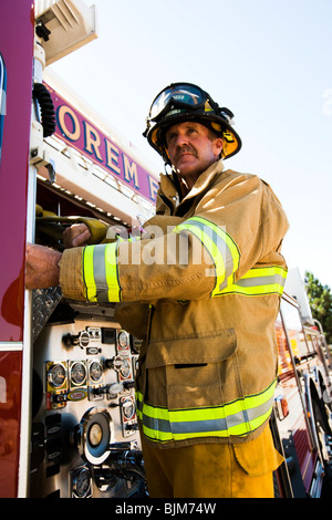 Motion Blur firefighter - Stock Photo